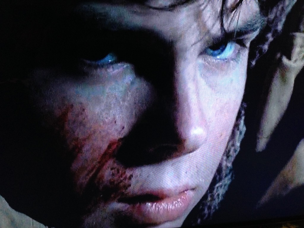 walking dead carl's evil eyes